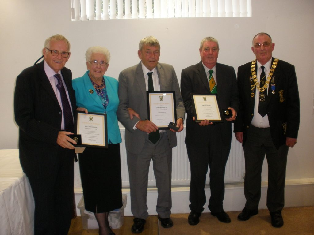 Bowls Cornwall Certificate of Merit Awards 2016